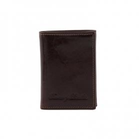 Δερμάτινη θήκη για κάρτες TL140801 - Καφέ Σκούρο