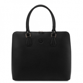 Γυναικεία Επαγγελματική Τσάντα Δερμάτινη Magnolia - Μαύρο