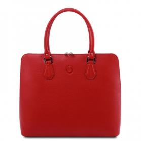 Γυναικεία Επαγγελματική Τσάντα Δερμάτινη Magnolia - Κόκκινο lipstick