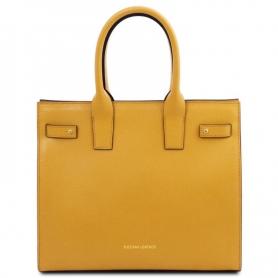 Γυναικεία Τσάντα Δερμάτινη Catherine TL141933 - Κίτρινο