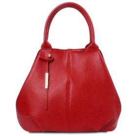 Γυναικεία Τσάντα Δερμάτινη TL142005 - Κόκκινο Lipstick