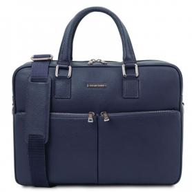 Τσάντα Laptop Δερμάτινη Treviso 17''  - Μπλε σκούρο TL141986