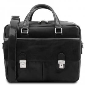 Τσάντα Laptop Δερμάτινη San Miniato 14'' - Μαύρο