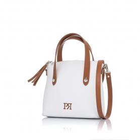 Γυναικεία τσάντα χειρός Pierro Accessories 90112DL07 Λευκό