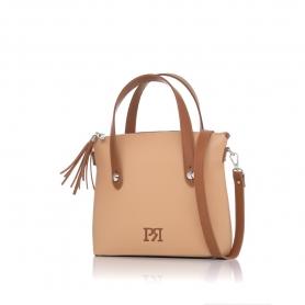 Γυναικεία τσάντα χειρός Pierro Accessories 90112DL09 Κάμελ