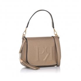 Γυναικεία τσάντα χειρός Pierro Accessories 90609DL30 Άμμου