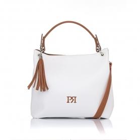 Γυναικεία τσάντα ώμου Pierro Accessories 90519DL07 Λευκό