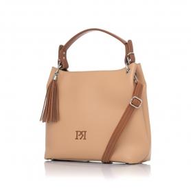 Γυναικεία τσάντα ώμου Pierro Accessories 90519DL09 Κάμελ