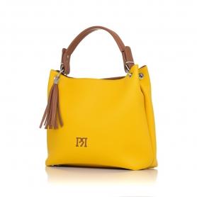 Γυναικεία τσάντα ώμου Pierro Accessories 90519DL20 Κίτρινο