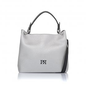 Γυναικεία τσάντα ώμου Pierro Accessories 90519DL22 Ασημί