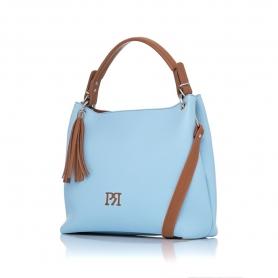 Γυναικεία τσάντα ώμου Pierro Accessories 90519DL83 Σιέλ