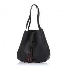 Γυναικεία τσάντα ώμου Pierro Accessories 90612DL01 Μαύρο