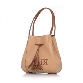 Γυναικεία τσάντα ώμου Pierro Accessories 90612DL09 Κάμελ
