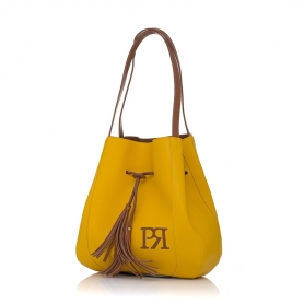 Γυναικεία τσάντα ώμου Pierro Accessories 90612DL20 Κίτρινο
