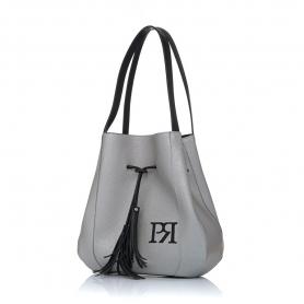 Γυναικεία τσάντα ώμου Pierro Accessories 90612DL22 Ασημί