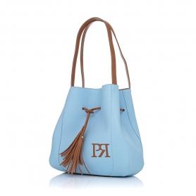 Γυναικεία τσάντα ώμου Pierro Accessories 90612DL83 Σιέλ