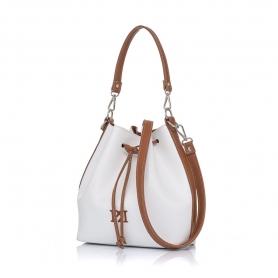 Γυναικεία τσάντα πουγκί Pierro Accessories 90400DL07 Λευκό