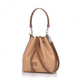 Γυναικεία τσάντα πουγκί Pierro Accessories 90400DL09 Κάμελ