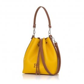Γυναικεία τσάντα πουγκί Pierro Accessories 90400DL20 Κίτρινο