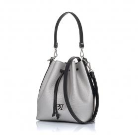 Γυναικεία τσάντα πουγκί Pierro Accessories 90400DL22 Ασημί