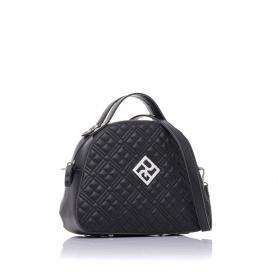 Γυναικεία καπιτονέ τσάντα ώμου - χειρός Pierro Accessories 90581KPT01 Μαύρο