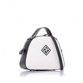 Γυναικεία καπιτονέ τσάντα ώμου - χειρός Pierro Accessories 90581KPT07 Λευκό