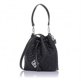 Γυναικεία καπιτονέ τσάντα πουγκί Pierro Accessories 90400KPT01 Μαύρο