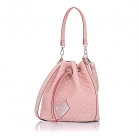 Γυναικεία καπιτονέ τσάντα πουγκί Pierro Accessories 90400KPT50 Nude