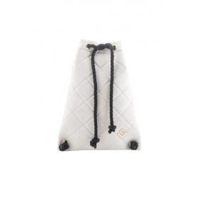 Γυναικεία Τσάντα Πλάτης Lovely Handmade Dourvas Remvi Backpack | Dirty White - 10D-C-54