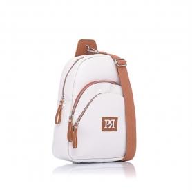 Γυναικείo σακίδιο πλάτης Pierro Accessories 90621DL07 Λευκό