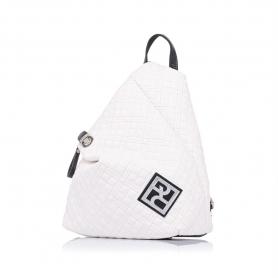 Καπιτονέ σακίδιο πλάτης Pierro Accessories 09527KPT07 Λευκό