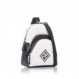 Καπιτονέ σακίδιο πλάτης Pierro Accessories 90621KPT07 Λευκό