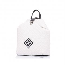 Καπιτονέ σακίδιο πλάτης Pierro Accessories 90625KPT07 Λευκό