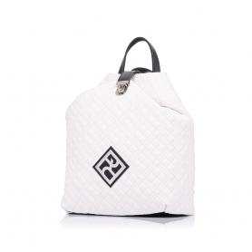 Καπιτονέ σακίδιο πλάτης Pierro Accessories 90626KPT07 Λευκό