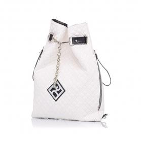Καπιτονέ σακίδιο πλάτης Pierro Accessories 90630KPT07 Λευκό