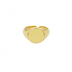 Δαχτυλίδι σεβαλιέ  από επιχρυσωμένο ασήμι 925. D-12-G-99