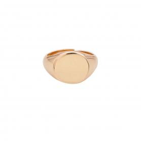 Δαχτυλίδι σεβαλιέ  από ασήμι 925 με ροζ επιχρύσωμα. D-12-RG-99