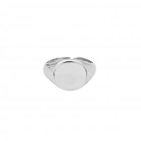 Δαχτυλίδι σεβαλιέ από επιπλατινωμένο ασήμι 925. D-12-S-99