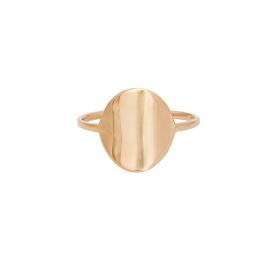 Δαχτυλίδι σε οβαλ σχήμα απο ασημί 925 με ροζ επιχρύσωμα. D-6-RG-59