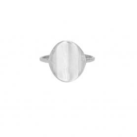 Δαχτυλίδι σε οβαλ σχήμα απο επιπλατινωμένο ασημί 925. D-6-S-59