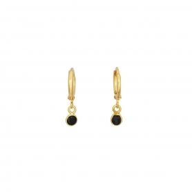 Σκουλαρίκια κρίκοι με κρύσταλλο Swarovski  S-1034-01-06-55