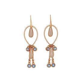 Χειροποίητα μακριά μοντέρνα σκουλαρίκια με σμάλτο και κρύσταλλο Swarovski. S-536-02-56-95