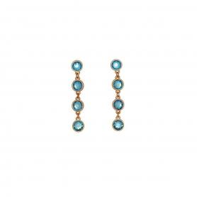 Χειροποίητα μακριά σκουλαρίκια με κρύσταλλα Swarovski. S-561-02-58-85
