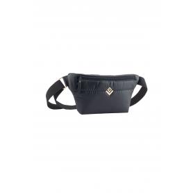 Belt Bag Lovely Handmade Camelia Phos   Black - 11CA-FL-13