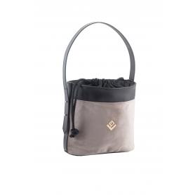 Τσάντα Χειρός Lovely Handmade Emilia S Velvet Bag | Grey - 11EMI-SVE-03