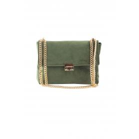 Τσάντα Ώμου Lovely Handmade Milena Velvet Bag | Olive - 11MI-VE-30