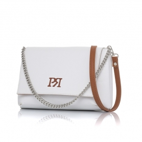 Γυναικεία τσάντα χιαστί Pierro Accessories 90614DL07 Λευκό