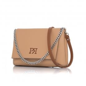 Γυναικεία τσάντα χιαστί Pierro Accessories 90614DL09 Κάμελ