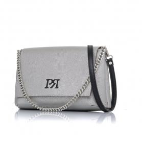 Γυναικεία τσάντα χιαστί Pierro Accessories 90614DL22 Ασημί