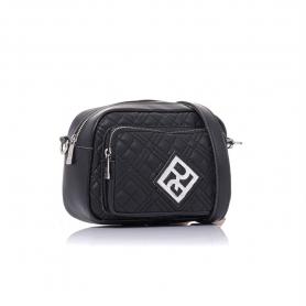 Γυναικεία τσάντα καπιτονέ χιαστί Pierro Accessories 90623KPT01 Μαύρο